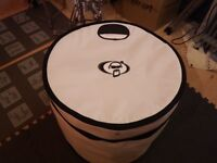 Protection racket 22x20 bass drum case white only gigged a handful of times.