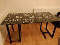 IKEA glass desk / table - glasholm floral