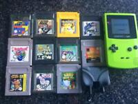 Game Boy Color with 11 games £40