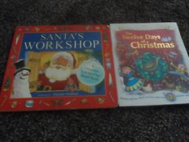 new unused Christmas sticker/activity book and santa book both for £1