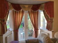 Beautiful Curtains - Swag & Tails - Pink/Beije