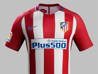 Atletico Madrid Older Kids Home Top (Large) With Carrasco 10 on the back
