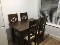 Dining table with 4 chairs oak furniture land