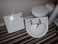 toilet pan, sink,pedestal,cisterin