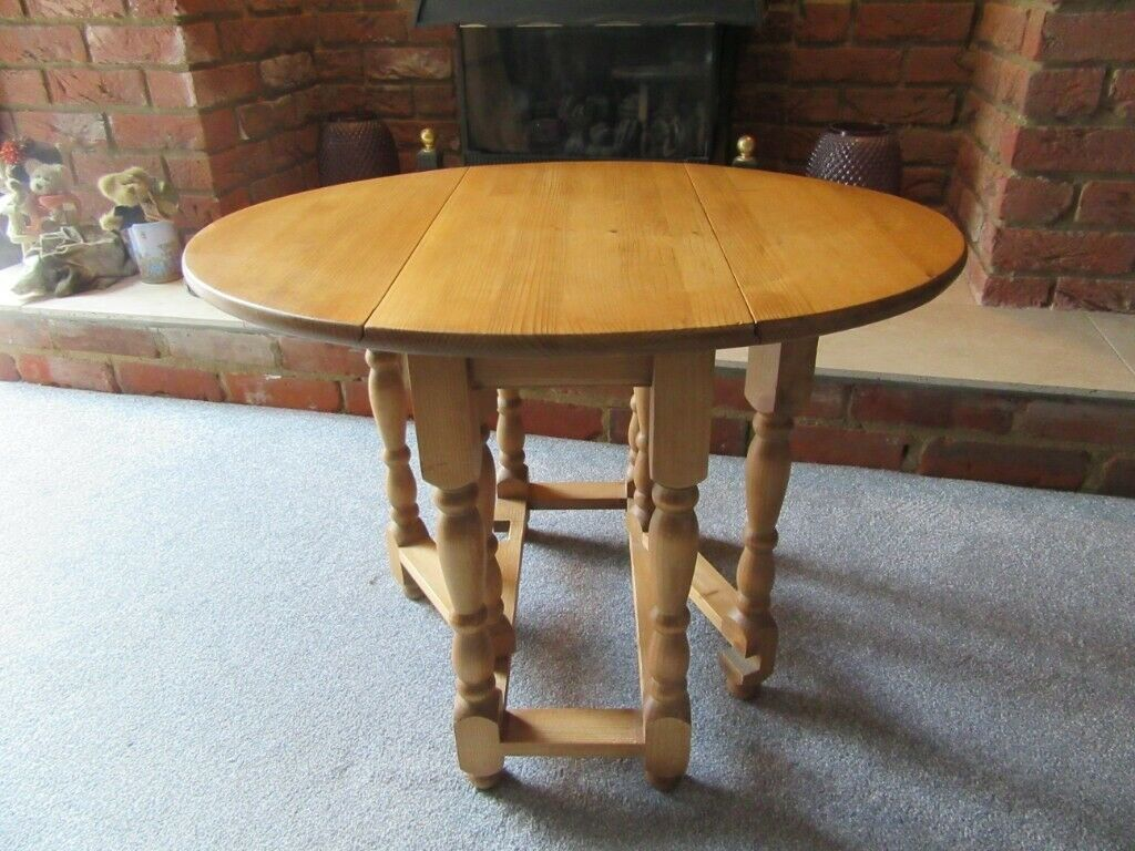 Prime Furniture Small Pine Gateleg Table Drop Leaf Side End Lamp Oval Table Top Sanded Refinished In Needham Market Suffolk Gumtree Squirreltailoven Fun Painted Chair Ideas Images Squirreltailovenorg