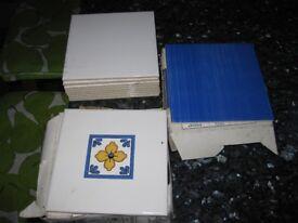 Decorative square tiles - 15cm x 15cm