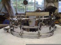 Ludwig Chrome Supraphonic Snare Drum 1970s