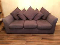 Dark Grey Three Seater Sofa