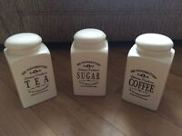 Coffee, Sugar And Tea Jars