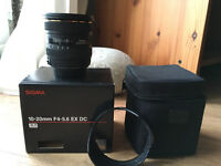 Sigma 10-20mm Canon fit