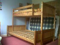 Triple Bunk Bed (pine wood)