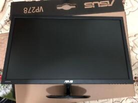 Monitor like new ASUS VP 27 inch Gaming 1ms 1 year warranty