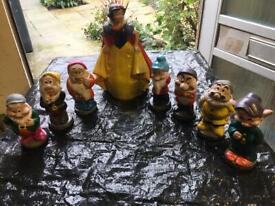 New concrete collectable Snow White and seven dwarfs