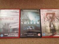 Films Splinter, Shiver, 7 Days (3 Horror DVDS)