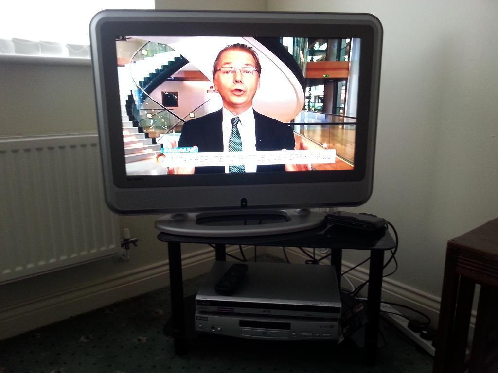 """TV 31"""" Busch and DVD And stand and freeview"""