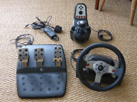 Logitech G25 Gaming Steering Wheel with Pedals and Gearshift