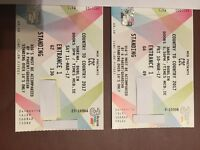 2 C2C Country to Country Tickets for Sale