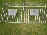 Ornate Garden Panels Reclamation Scrolled Wrought Iron Feature Vintage Glass