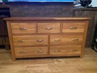 English solid oak dresser/chest of drawers excellent condition