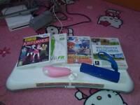 Nintendo Wii balance board and games