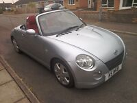 Daihatsu copen 695cc turbo convertible 2004, steel electric roof, red leather seats