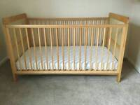 Mothercare Ashton Cot Bed 0-6 years - can drliver