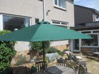 Garden Patio Parasol Umbrella Shade 3m x 2m Homebase Hardwood Teak? Very good condition.