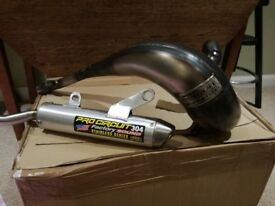 Suzuki RM 250 Pro Circuit Exhaust Full System Brand New