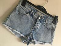 Size 10 Topshop Denim Shorts