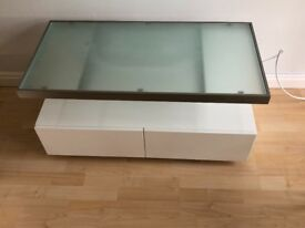 Dwell floating White TV stand for sale
