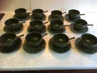 Vintage TAMS soup bowls / cups and saucers X 12