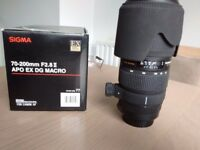 Sigma 70-200mm f2.8 canon fit lens