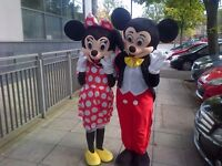 Characters for parties mickey minnie peppa pig