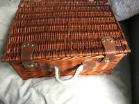 Two picnic hampers