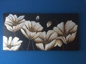 flowers on stretched canvas / art