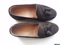 Tassel Shoes Brown Suede Men handmade