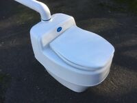 Composting toilet with fittings