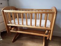 Baby's Wooden Crib/Small Cot