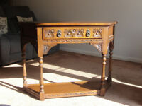 Old Charm Oak Console Table – Reduced Price
