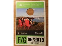 Canada Parks pass £30