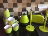 Lime green kitchen set
