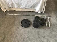 Cast Iron Weight Set (77kg Total)