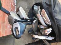 Golf Clubs/Bag/Trolley/Balls/Brolly
