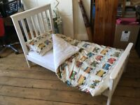 REDUCED - John Lewis Lasko Cot Bed in White for sale - excellent condition!