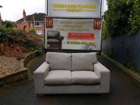 Next grey material 2 seater sofa