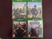 Watch Dogs 2, Homefront, Call of Duty Black Ops 3, Assasins Creed Unity