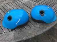 X2 b-twin 1st size bike helmets £6 for both
