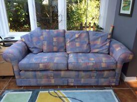 Pretty Blue 2 seater sofa - FREE