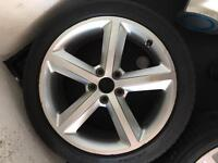 "1x GENUINE AUDI 18"" ALLOY AND TYRE"