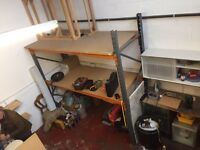 Large metal framed shelving unit - VERY STRONG